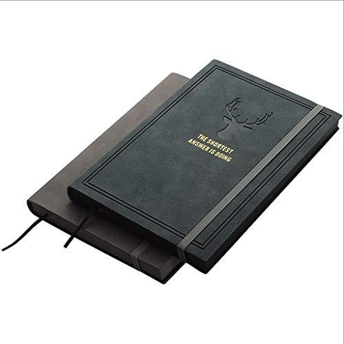 Cuaderno retro de grano recto A5,240 hojas de papel grueso premium forrado diario 2 paquetes, selección de estilo, para diario escolar (color azul+rojo)