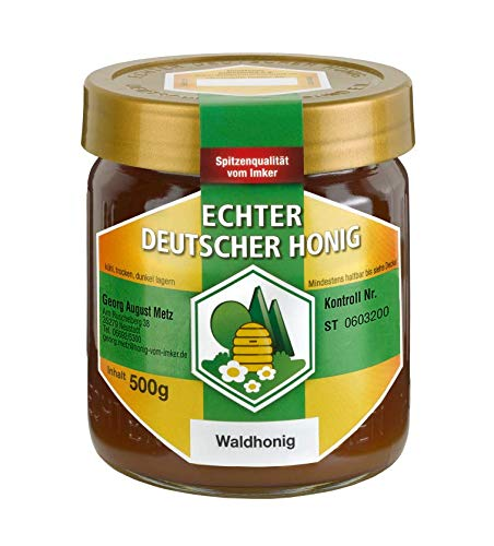 Echter Deutscher Waldhonig aus den Wäldern der hessischen Mittelgebirge - 500g im Glas