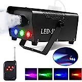 AONCO Máquina de humo 500W RGB LED Luces de efectos de escenario con Control remoto para Matrimonio Cumpleaños Fiesta Partido Teatro Disco DJ