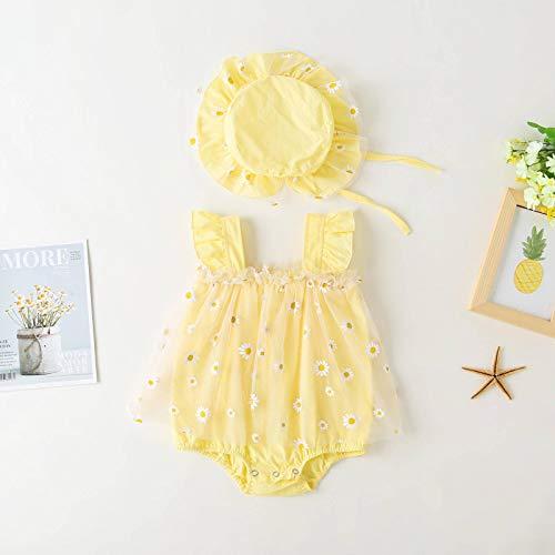 N\C Baby Onesies, Mesh Daisy Skirts, Children's Clothing, Summer Newborns, Sleeveless Slings, Romper Onesies, Breathable and Sweat-Absorbent Baby Girls