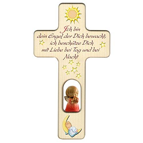 Holzkreuz für Mädchen zu Geburt, Taufe oder Kindergeburtstag/Dekoration/mit Aufhängung