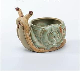 Ceramic Home/ Garden Flower Planter Pot - Outside Vintage Cute Snail Design