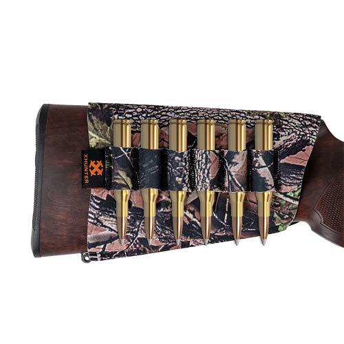 Atac Pro Xhunter Break Up Neoprene Buttstock 6 Ammo Holder Rifle Gun Bullet Carrier Camo