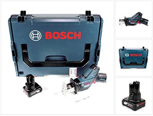 Bosch GSA 12V-14 - Sierra de sable (12 V, 1 batería de 6,0 Ah, L-Boxx, sin cargador)