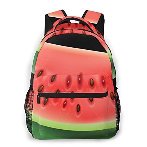 Lawenp Mochila Unisex de Moda Sandía PNG Clipart Mejor Bookbag Bolsa de Ordenador portátil Ligera para Viajes Escolares Acampar al Aire Libre