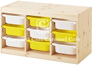 IKEA TROFAST(トロファスト)収納コンビネーション パイン材 イエロー 94x44x52cm PY-Y4WS5