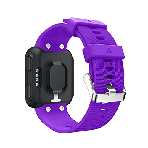LXF JIAJU Silicone Reloj Correa para Forerunner 35 Pulsera De La Correa De La Muñeca para Garmin Forerunner 35 Reemplazo De Reloj Inteligente (Color : Purple)