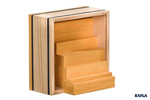 Kapla 9000156 Holzplättchen 40-teilig in Box, Gelb