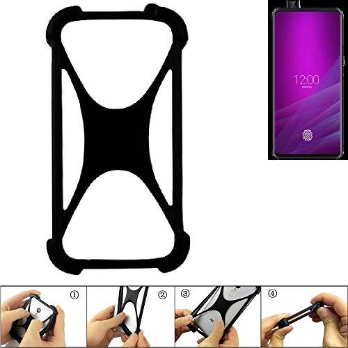 K-S-Trade® Handyhülle Für Allview Soul X6 Xtreme Schutz Hülle Silikon Bumper Cover Case Silikoncase TPU Softcase Schutzhülle Smartphone Stoßschutz, Schwarz (1x),