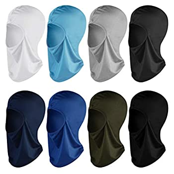 Topbuti 8 Pack Balaclava Full Face Mask Windproof Sun UV Protection Balaclava Face Cover for Women Man Outdoor Sports in Summer Winter Cold Hot Weather  8 Colors