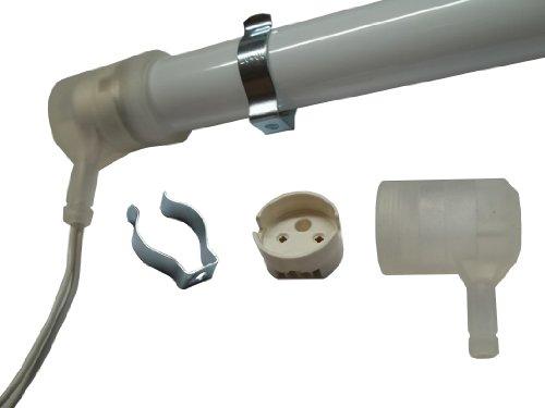 Aura IP54 Set je 2 Schutzkappen, Fassungen, Lampenhalter für Leuchtstofflampe T5 16mm