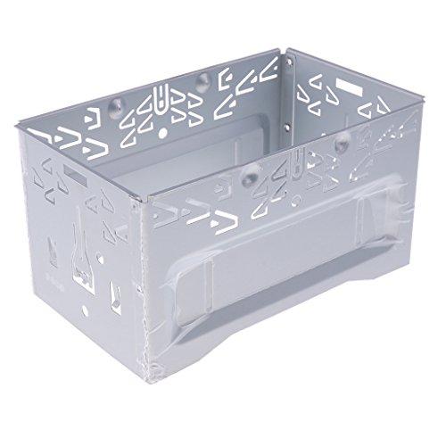 MagiDeal Autoradio Stéréo Universel Cage Fitting Kit Autoradio 2 DIN Universel de Autostereo