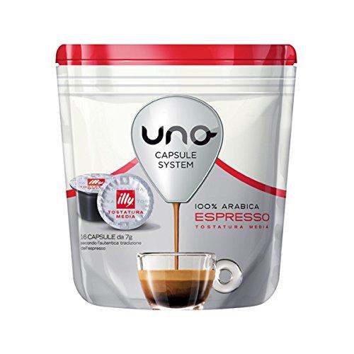 16 Kapseln Uno System Illy Espresso Media Arabica Original