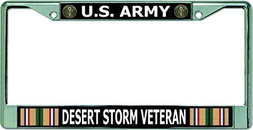 U.S. Army Desert Storm Veteran Chrome License Plate Frame