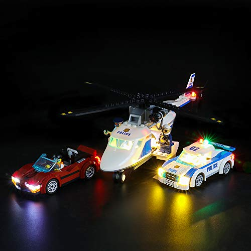 LIGHTAILING Conjunto de Luces (City Police Persecución por La Autopista) Modelo de Construcción de Bloques - Kit de luz LED Compatible con Lego 60138 (NO Incluido en el Modelo)