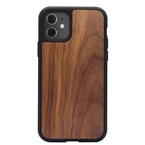 Woodcessories - Bumper Case kompatibel mit iPhone 11 Hülle Holz, iPhone XR Hülle Holz Walnuss