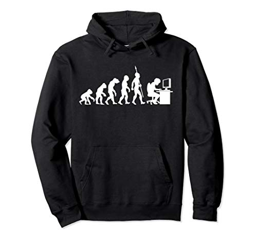 Computer Freak Geek Nerd PC Game Gamer Evolution Fun Spaß Pullover Hoodie