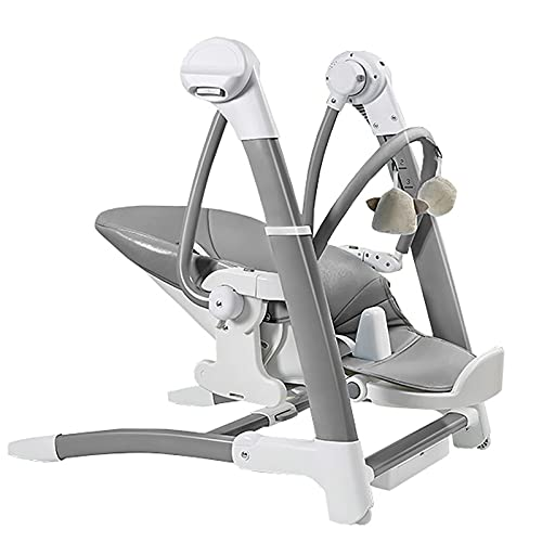 3 en 1 Baby Sportchair y Baby Bootcer Silla, silla de swing de bebé eléctrico con 3 tipos de sentado, rango de giro de 8 velocidades, con control remoto y Bluetooth, para recién nacidos de 0 a 5 años,