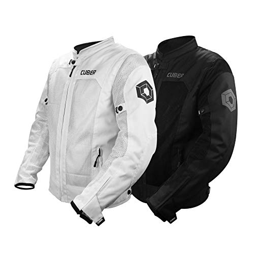 Cuber Motorcycle Mesh Jacket Riding Air Biker Jacket CE...
