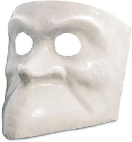 Venezianische Maske Bauta bianca in weiß zu Karneval Fasching
