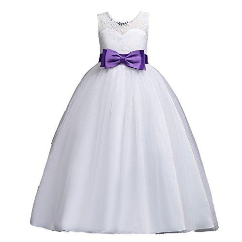 WUEZIFHDB Elegante Kleider Kinder Elegante Kinderkleider Hochzeit die schönsten Kinder Kleider der Welt brautjungfernkleider mädchen(XinAn-1021,Purple,140)