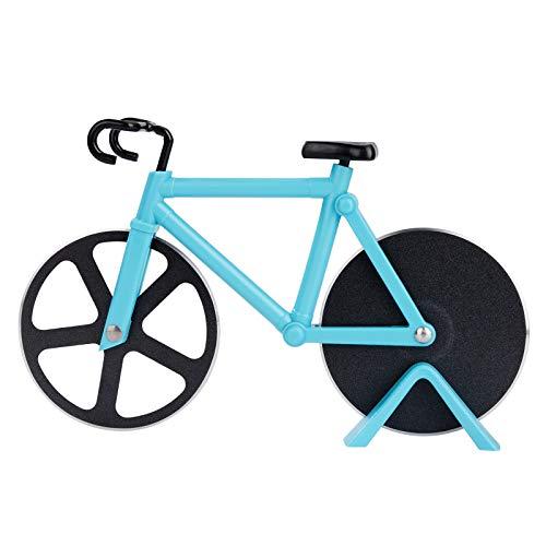 Cortador de Pizza Antiadherente con Soporte, Corta de Pizza Forma Bicicleta de...