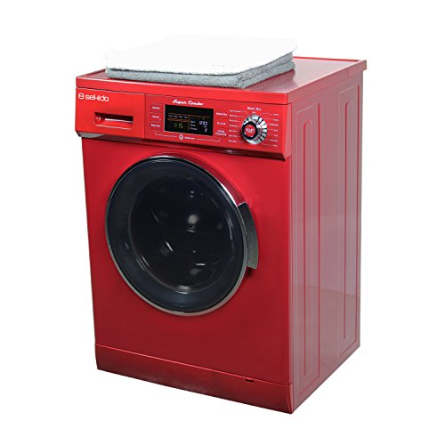 All in one Front Load 1.6 Cu.ft. New Compact Combo Washer Dryer SK 4400 CV Merlot with Optional Venting/ Condensing Drying with Automatic Water Level and Sensor Dry