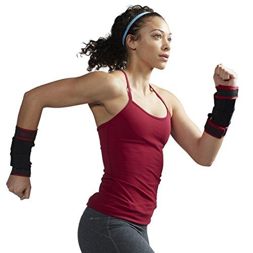SPRI Wrist Weights Adjustable Arm Weights Set for Women & Men (3lb Set - Two 1.5lb Weights)