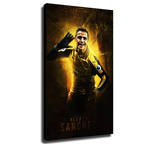FINDEMO Alexis Sanchez Arsenal-9 Painting Canvas Art Poster and Wall Art Picture Print Modern Family Bedroom Decor Posters /0352 (with Framed,16x27 inch)