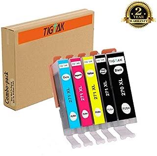 Tigtak 5 Pack Compatible Canon PGI-270XL CLI-271XL PGI 270 CLI271 XL Ink Cartridge Replacement for Canon PIXMA MG7720 MG6820 MG6821 MG6822 MG5720 MG5721 TS5020 TS6020 TS8020 TS9020 Printers