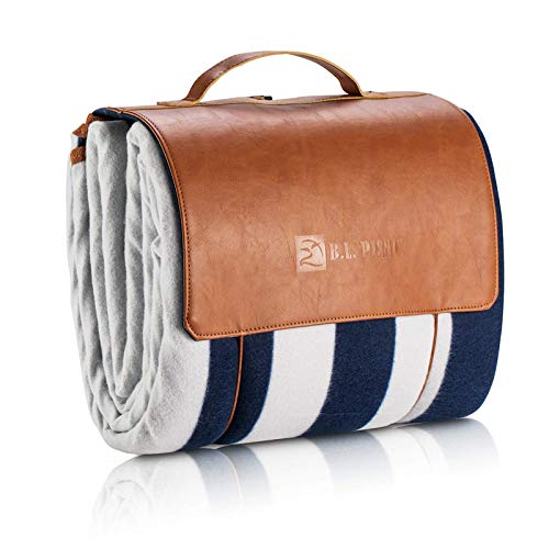 """Picnic Blanket, Waterproof SandProof with Picnic Recipes Book (70"""" x 80"""", White)"""