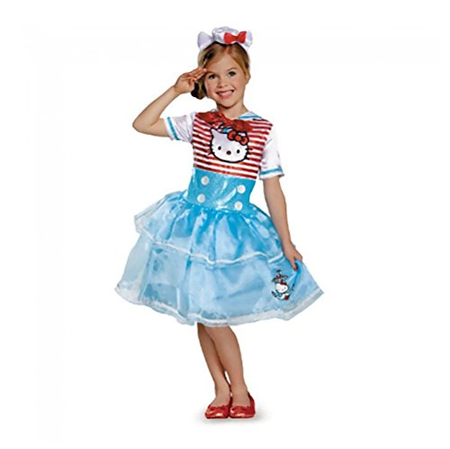 Disguise Girls Hello Kitty Sailor Costume Hat & Gloves, M7-8