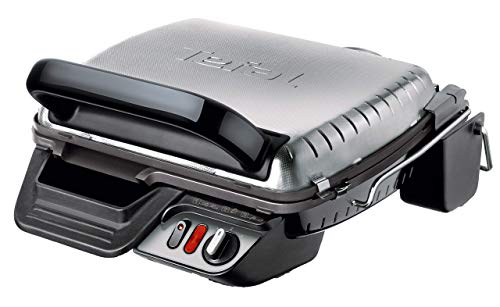 Tefal Kontaktgrill 3in1 GC3060 [mit Überback-Funktion; doppelte Grillfläche wenn aufgeklappt als Tischgrill/BBQ; auch für Sandwich, Steak, Panini; regelbarer Thermostat; antihaftbeschichtet; 2000W]