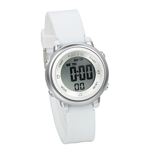 Avaner Reloj para Niños Digital Reloj Deportivo Digital para Aire Libre, Blanco Reloj Infantil De Colores, Niña Reloj Pequeño 5ATM A Prueba de Agua, Buen Regalo