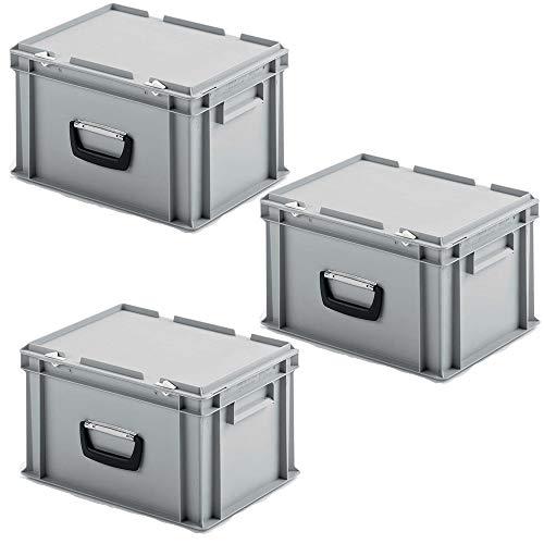 3 Euro-Koffer mit 1 Tragegriff auf einer...