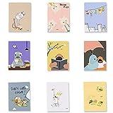 35 Piezas Cuaderno Pequeño, Bloc de Notas de Bolsillo, Cuaderno de Bolsillo, para Mensajes, Notas, Registros de Actividades al Aire Libre y Tácticas, Estilo Aleatorio