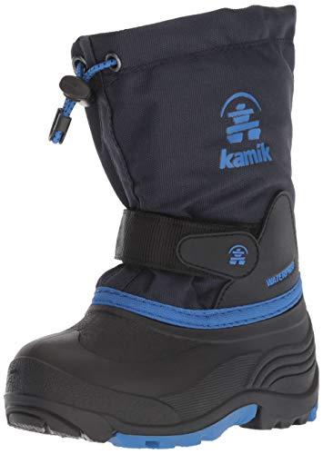 Kamik Girl's WATERBUG5 Snow Boot, Navy/Blue, 2 Medium US Little Kid