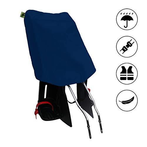 MadeForRain Preiswerter Regenschutz für Fahrradkindersitz - CityFrog Basic - Neptunblau