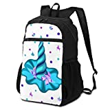 3D Printing Lightweight Packable Durable Isometry Large Unicorn Horn Against Backpacks,Travel Folding Backpack Bag,Hiking Bag,Travel Hiking Backpack Daypack for Women Boys