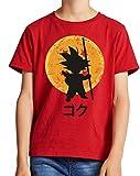 The Fan Tee Camiseta de NIÑOS Dragon Ball Goku Vegeta Bolas de Dragon Super Saiyan 043 7-8 años