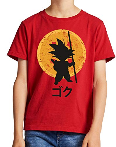 The Fan Tee Camiseta de NIÑOS Dragon Ball Goku Vegeta Bolas de Dragon Super Saiyan 043 5-6 años