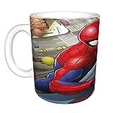 Taza de café de Marvel Spiderman Novelty de 325 ml, ideal para mujeres y hombres, divertidas ideas de cumpleaños para ella,...