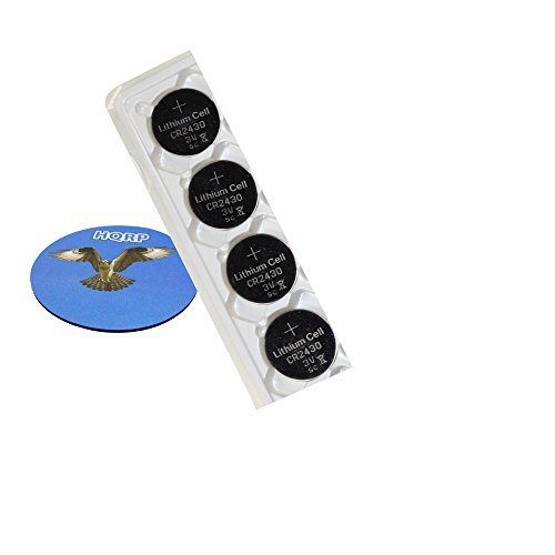 HQRP 4-Pack Coin Lithium Battery for Microsoft Ergonomic Wireless Keyboard Keypad + HQRP Coaster