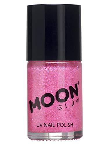 Moon Glow - Glitzernder Neon UV Nagellack 14ml Rosa – ein spektakulär glühender Effekt bei UV- und Schwarzlicht!