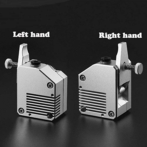 New Printer Accessories Dual Gear All Metal Bmg Extruder Bowden Dual Drive Extruder Fit Compatible with 3D Printer Mk8 CR10 Prusa I3 Mk3 Ender 3 (Color : Silver)