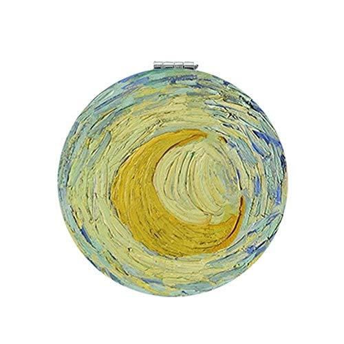 LASISZ Abstraits Artiste Van Gogh Autoportrait Miroir de Poche DIY Outils Ronds Accessoires Miroirs, ZZ86