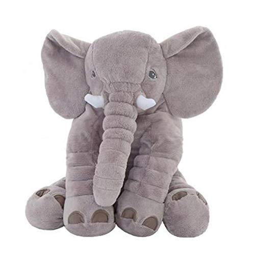 ZHW Cuscino Peluche Doll Un Forma di Elefante Creativo nel Peluche Cuscino per Bambola, Carino Bambola Imbottito Toy Cuscino Divano, Regalo di Compleanno per Bambini E Bambine,40cm