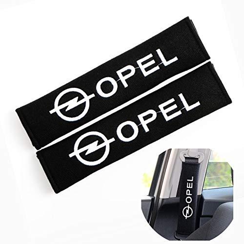 TFWYYJ Auto Car-Styling Car Logo Logo Emblems Pad Funda para Opel OPC Astra G H J Corsa D Insignia Mokka Zafira B Cinturón de Seguridad Cubierta de cinturón de cinturón