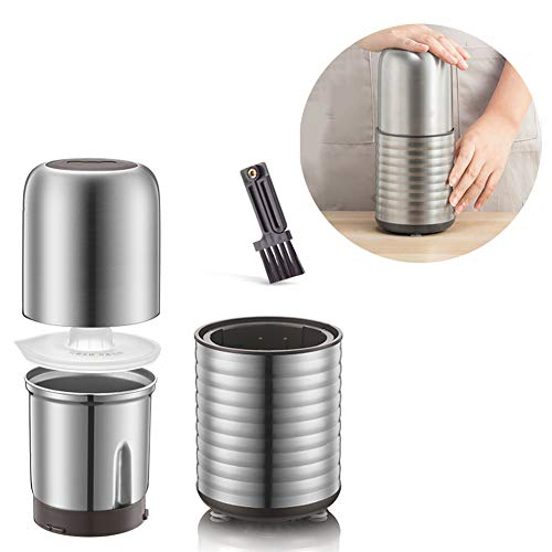 ZW Spice Grinder, Elektrische Koffiemolen Grote capaciteit Duurzame roestvrijstalen Kop En Blades Grinder 200G Capacity Afneembare Container voor koffiebonen Spices & Nuts