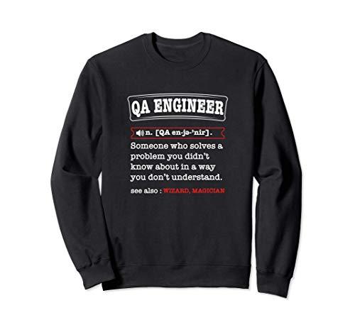 Quality Assurance engineer definition Tester vs developer Sudadera